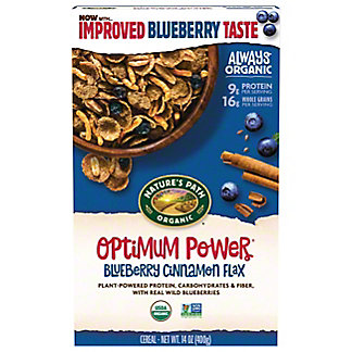 Nature's Path Organic Optimum Power Blueberry Cinnamon Flax Cereal, 14 oz