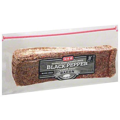 H-E-B Premium Thick Cut Peppered Bacon, 24 oz
