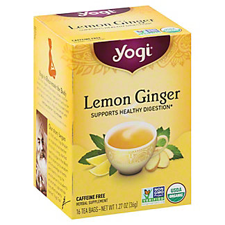Yogi Lemon Ginger Tea Bags,16 ct