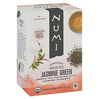 Numi Organic Tea Jasmine Green Tea Bags,18 CT