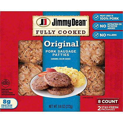Jimmy Dean Original Pork Sausage Patties,8.00 ea