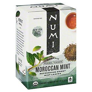 Numi Organic Tea Moroccan Mint Herbal Tea Bags,18 CT
