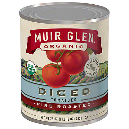 Muir Glen Organic Fire Roasted Diced Tomatoes, 28 oz