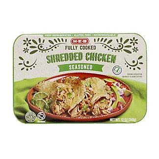 H-E-B Fully Cooked Shredded Seasoned Chicken, 12 oz
