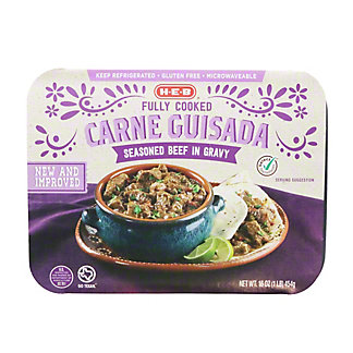 H-E-B Fully Cooked Carne Guisada Seasoned Beef in Gravy, 16 oz