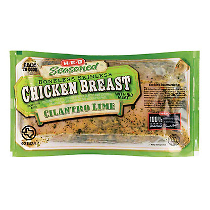 H-E-B Seasoned Boneless Skinless Cilantro Lime Chicken Breast,LB