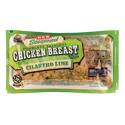 H-E-B Seasoned Boneless Skinless Cilantro Lime Chicken Breast,LB