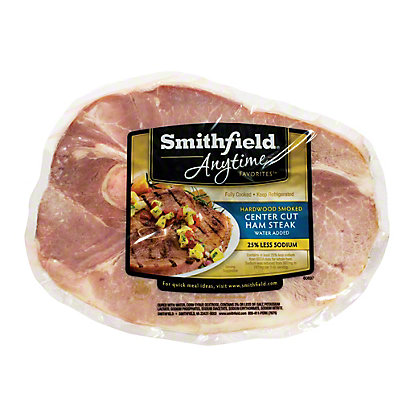 Smithfield Hardwood Smoked Center Cut Ham Steak,sold by the pound