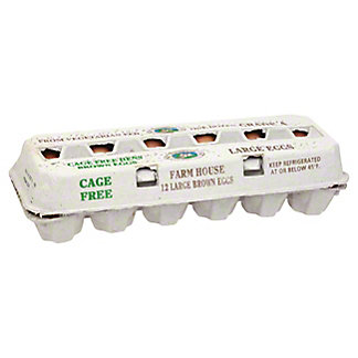 Farmhouse Cage Free Nest Eggs, 12 ct