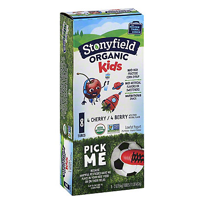 Stonyfield Organic YoKids Squeezers Low Fat Cherry/Berry Yogurt,8 ct