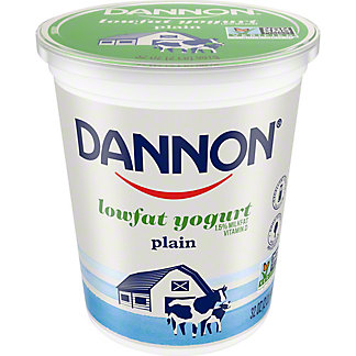 Dannon All Natural Low Fat Plain Yogurt, 32 oz