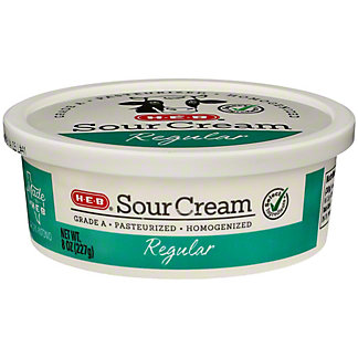 H-E-B Regular Sour Cream,8.00 oz
