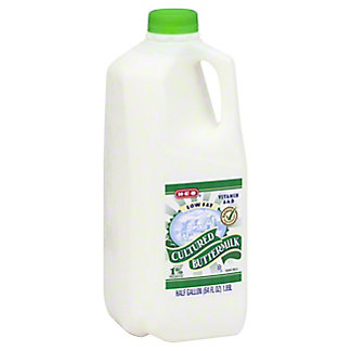 H-E-B H-E-B Low Fat Cultured 1% Milkfat Buttermilk,1/2 GAL