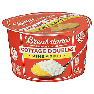 Breakstone's Cottage Doubles 2% Milkfat Lowfat Pineapple Cottage Cheese, 4.7 oz