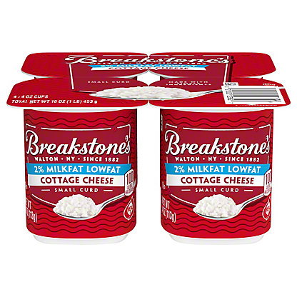 Breakstone's Small Curd 2% Milkfat Lowfat Snack Size Cottage Cheese 4 CT,4 oz