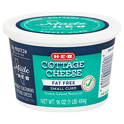 H-E-B Fat Free Cottage Cheese,16 OZ