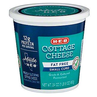 H-E-B H-E-B Fat Free Cottage Cheese,24.00 oz