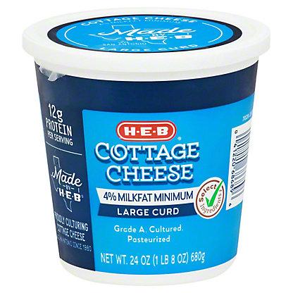 H-E-B H-E-B Large Curd Cottage Cheese,24.00 oz