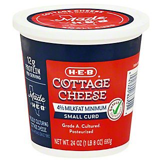 H-E-B Small Curd Cottage Cheese,24 OZ