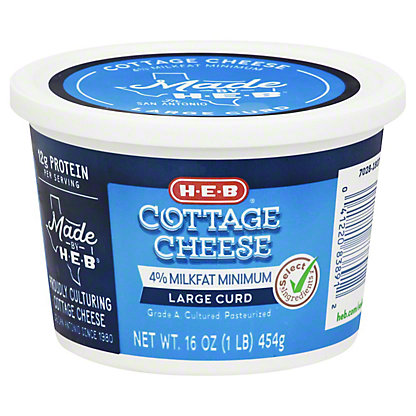 H-E-B Large Curd Cottage Cheese,16 OZ