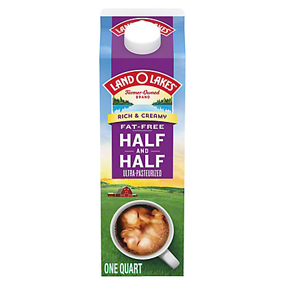 Land O Lakes Fat Free Half and Half,32 OZ