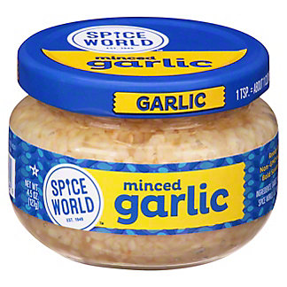 Spice World Minced Garlic,4.5 OZ