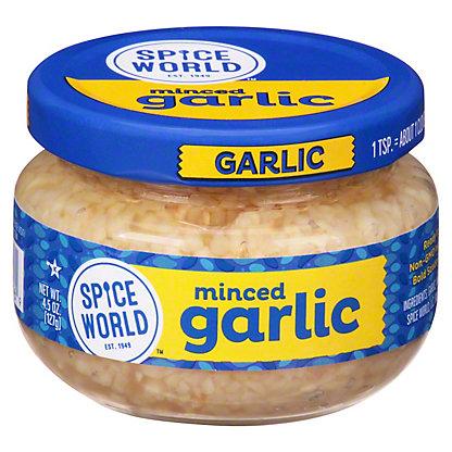 Spice World Minced Garlic,4.5 OZ