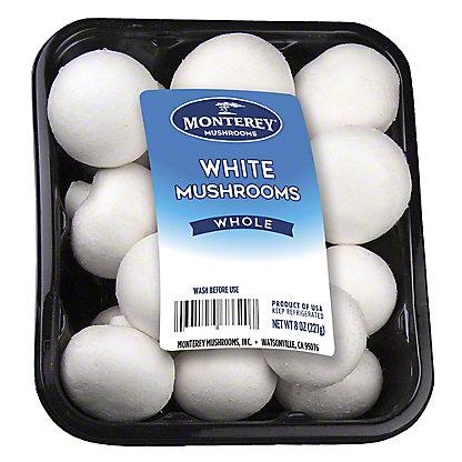 Fresh White Mushrooms, 8 oz
