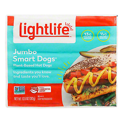 Lightlife Smart Dogs Jumbo Veggie Protein Links, 13.5 oz
