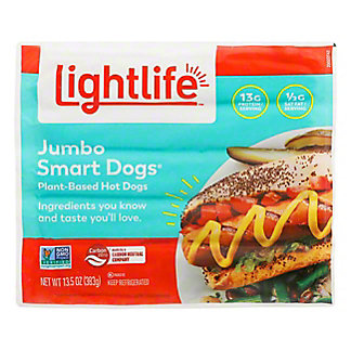 Lightlife Smart Dogs Jumbo Veggie Protein Links, 13.5 oz