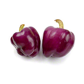 Fresh Organic Purple Bell Peppers,sold by the pound