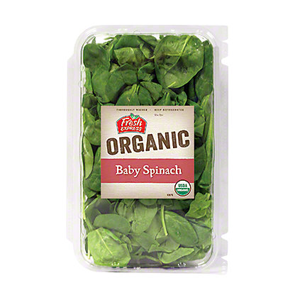 Fresh Organic Baby Spinach,EACH