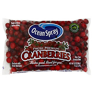 Ocean Spray Fresh Premium Cranberries, 12.00 oz