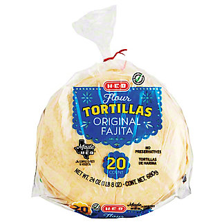 H-E-B Select Ingredients Original Flour Tortillas, 20 ct