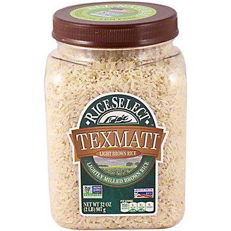Rice Select Texmati Long Grain American Basmati Light Brown Rice,32 OZ