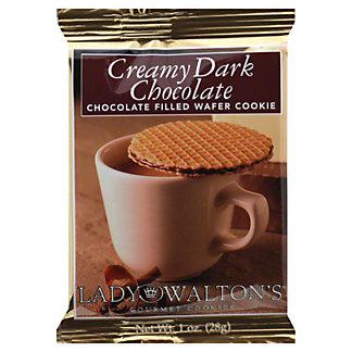 Lady Walton's Creamy Dark Chocolate Waffer,1 OZ