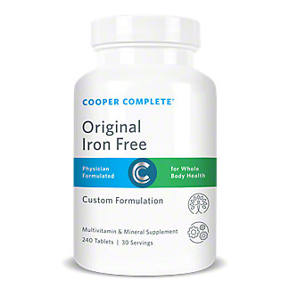 Cooper Complete Multivitamin And Mineral Supplement Iron Free Tablets,240 CT