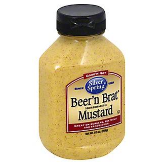Silver Spring Beer 'n Brat Horseradish Mustard,9.5 OZ