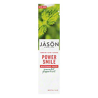 Jason Floride-Free Powersmile Whitening Toothpaste Powerful Peppermint,6 OZ