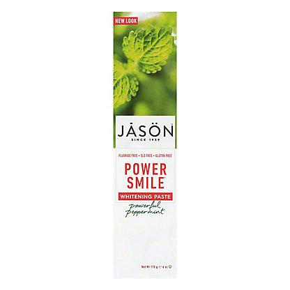 Jason Floride-Free Powersmile Whitening Toothpaste Powerful Peppermint,6 OZ