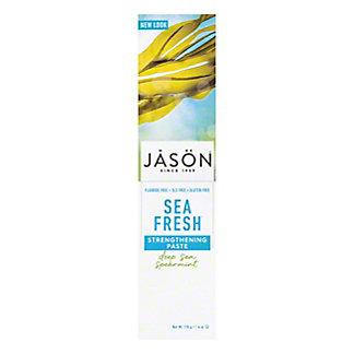 Jason Fluoride-Free Sea Fresh Strengthening Toothpaste Deep Sea Spearmint,6 OZ