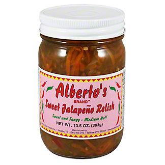 Albertos Sweet Jalapeno Relish Medium Hot,13.5OZ