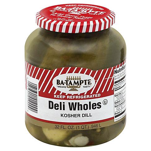 Ba-Tampte Deli Wholes Kosher Dill, 32OZ
