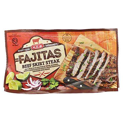 H-E-B Seasoned Beef Skirt Steak for Fajitas