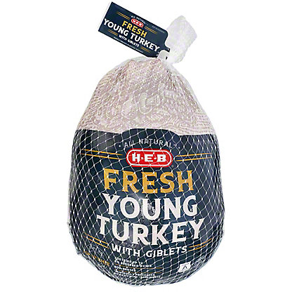 H-E-B Fresh Whole Young Turkey,16-20 LBS