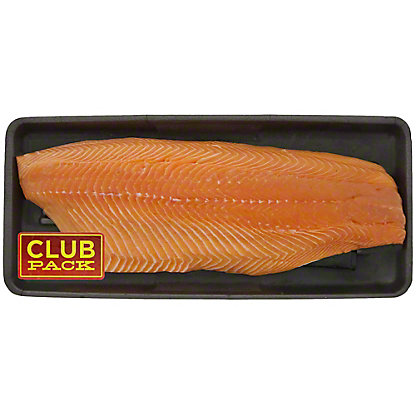Fresh Atlantic Salmon Fillet Club Pack, Farm Raised