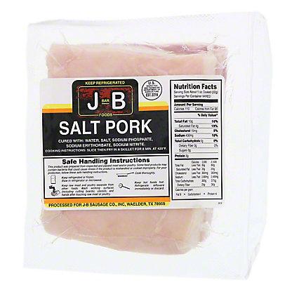 J-Bar-B Dry Salt Pork,LB