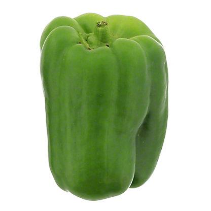 Fresh Organic Green Bell Peppers, EACH