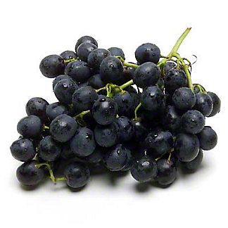 Fresh Organic Black Seedless Grapes,LB