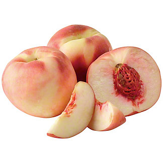 Fresh Pink Moon White Flesh Peaches